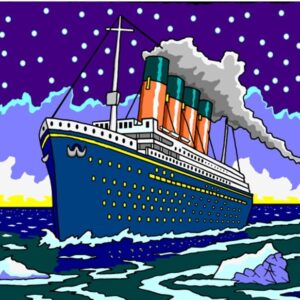 The Ship of Dreams RMS Titanic in full flow on the sea