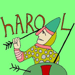 The picture depicts King Harold with an arrow in his eye