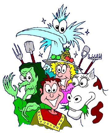 An amalgam of characters from the Panto, Jack, the Stork, the Cow, the hungry witch and the Pantomime cow