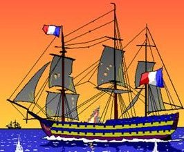 A French ship on it's way to Trafalgar