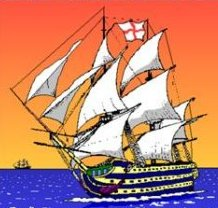 One of Nelson's ships in full sail