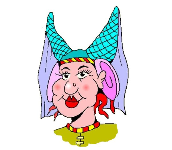 A picture of a Panto Queen, always over the top!