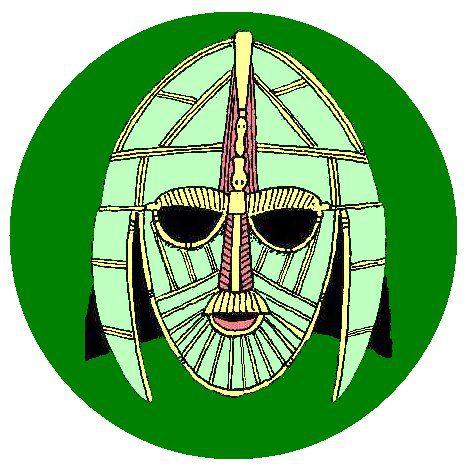 A Saxon Warrior's helmet found at Sutton Hoo