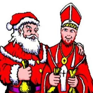 Saint Nicholas with Father Christmas