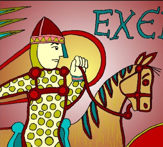 A picture of William the Conqueror as he looked on the Bayeux Tapestry.